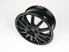 Black alloy wheel