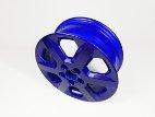 Blue alloy wheel