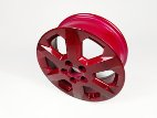 Red alloy wheel
